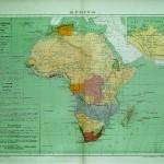 Mapa do continente Africano publicado após a Conferência de Berlim