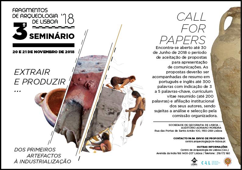 Call For Papers – 3º Seminário – Fragmentos da Arqueologia de Lisboa – 2018